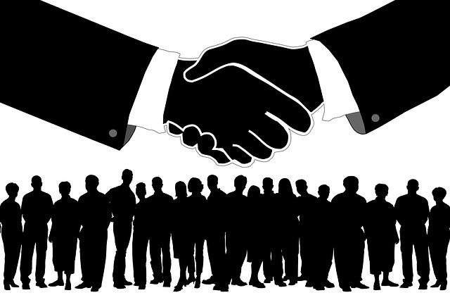 podání ruky v byznyse