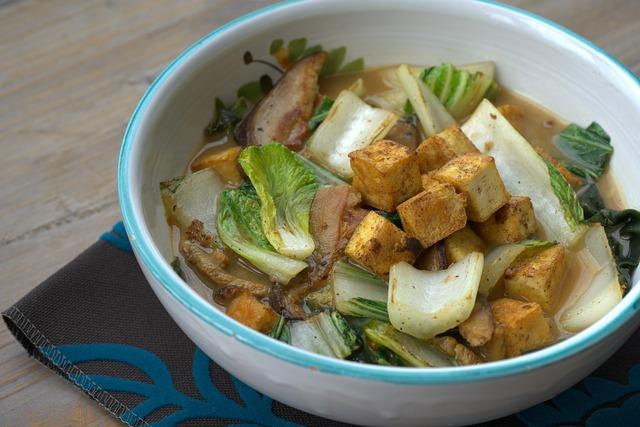tofu polévka